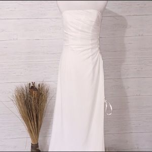Alexia Strapless White Long Formal Gown - 12